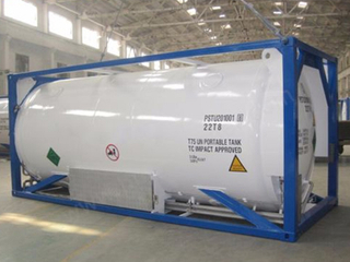 Jsxt 20FT 40FT Liquid Natural Gas Storage Frame Chassis LNG Tank Container