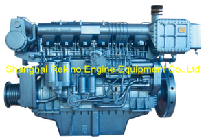 450HP 1200RPM Weichai medium speed marine diesel engine (X6170ZC450-2)