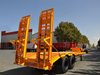 Low Price 3 Axle 60 Ton Low Bed Truck Semi Trailer