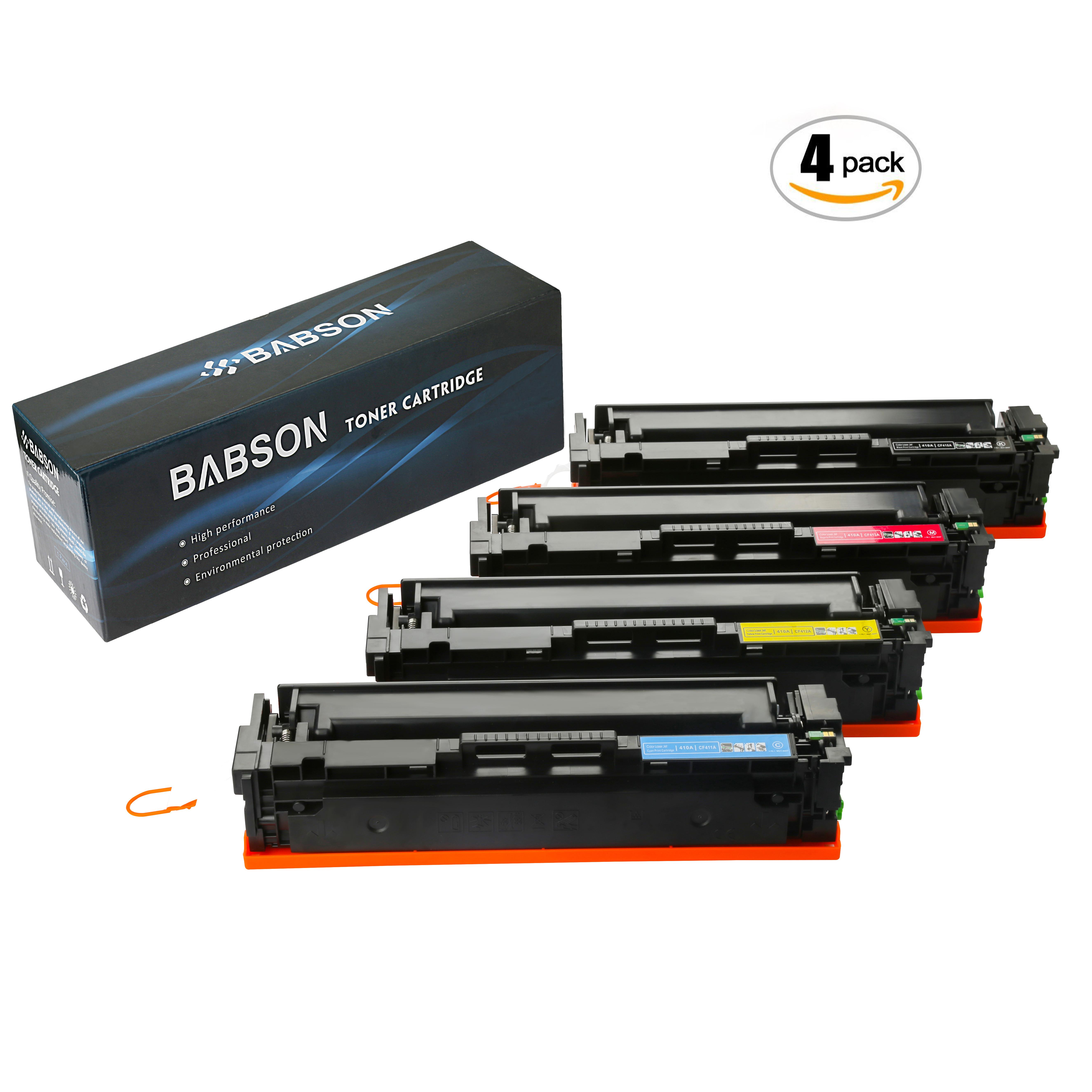 4 Pack CF400X Black Toner Cartridge For HP 201X LaserJet Pro M252dw M277dw M277n