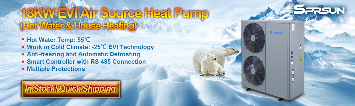 18KW EVI Air Source Heat Pump for Cold Climate