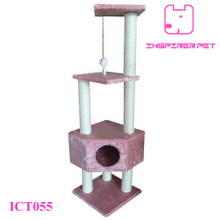 "Pink 52"" Cat Tree House Cando Furniture Scratcher Post Toy"