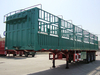 3 Axle 33 Ton Stake Fence Truck Semi Trailer for Transport Bulk Cargo,animal,grain