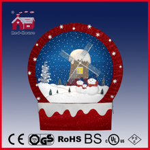 (40110F170-WI-RR) Snowing Christmas Decorations with Frame-supported and Textile-decorated