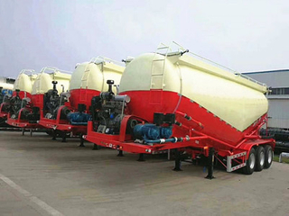 3 Axle 25m3-70m3 Tanker Bulk Cement Powder Tank Truck Tractor Semi Trailer with V-Shape