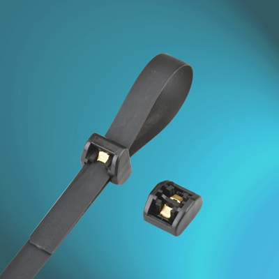Nylon Cable Ties With Stainless Steel Barb Locking Weather