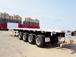 4 Axle 45FT Flat Bed Container Semi Trailer