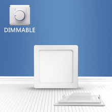 Dimmable Square recessed panel light 12W