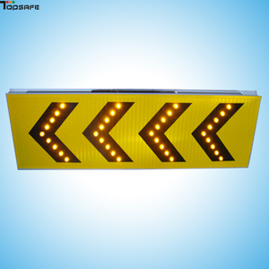 Solar LED construction sign