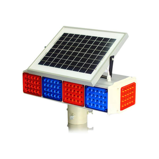 Solar Powerd LED warning flashing light