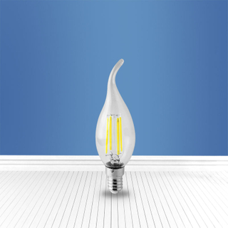 filament glass bulb Cl35 4W