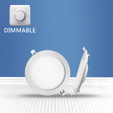 Dimmable Round recessed Panel Light 12W