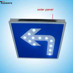 El LED solar turn-left muestra