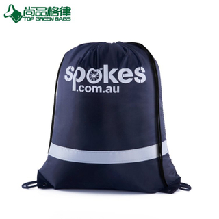 Custom polyester Reflective sling Sportpack drawstring backpack bag (TP-DB331)