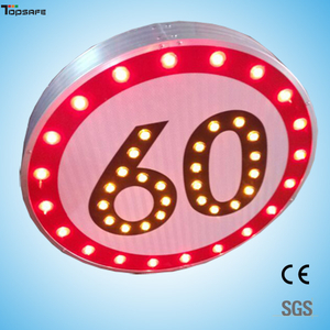 Solar LED Round speed limited sign