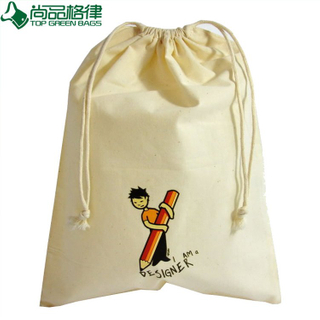 Cheap Fashion Cotton Canvas Drawstring Bag (TP-dB033)