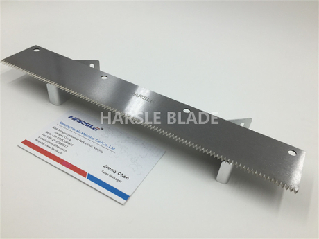 Long Flat/Straight perforation cut off blade, plastic packaging machine cutting saw blade