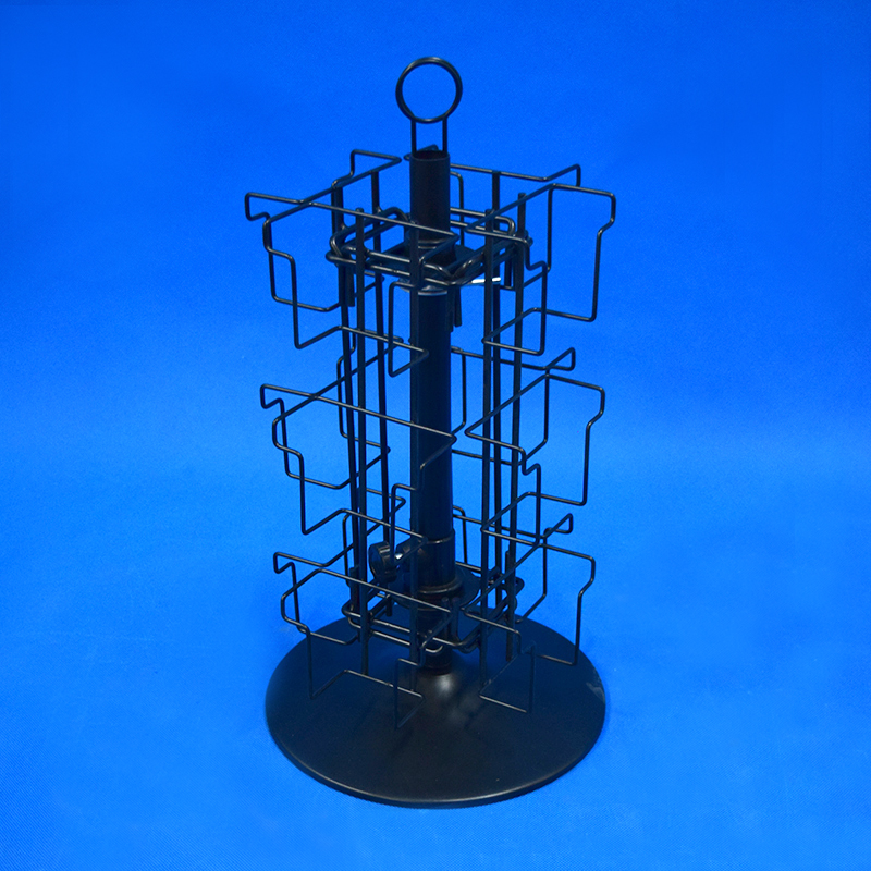 Table Top Iron Wire Postcard Rack Display Spinner Phy1011