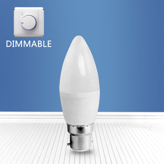 dimmable A3-C37 6W B22 LED candle bulb