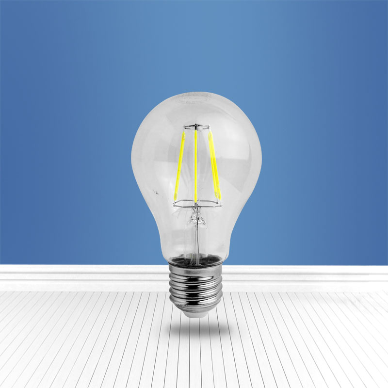 filament glass bulb A60 6W