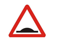 Roadf Speed hump Sign