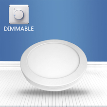 Dimmable Round surface mounted panel light 12W