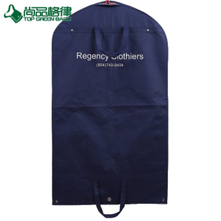 Custom Foldable Suit Cover Clothing Bag Garment Bags with Snap Button (TP-GB107)