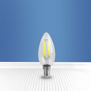 filament glass bulb C35 4W