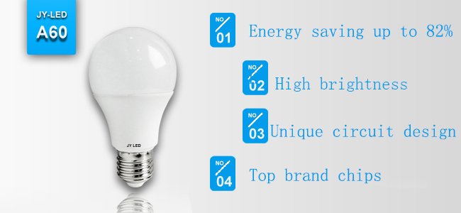 China Professional LED Bulb A60 6W 7W 8W 9W 10W E27