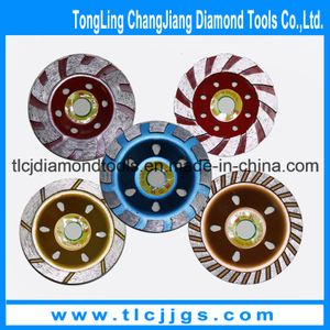 Continuous Turbo Cup Diamond Grinding Wheel for Porcelain