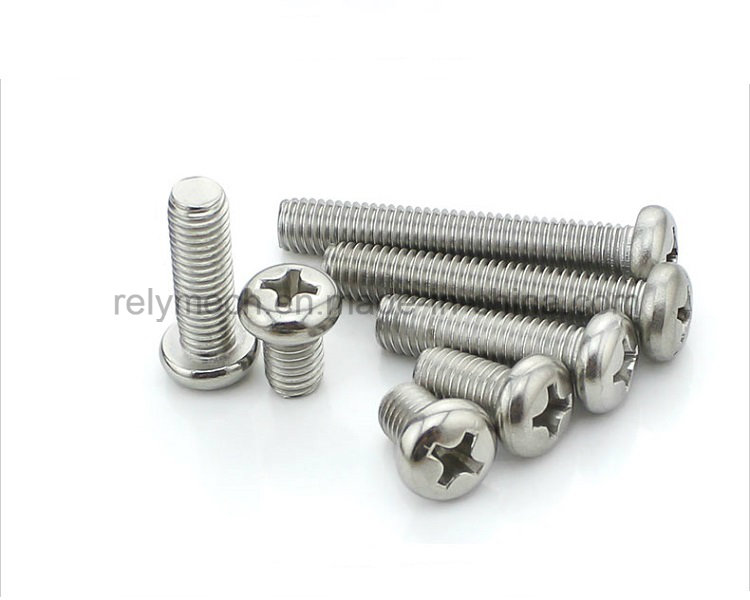 Fastener Stainless Steel Phillip Pan Head Machine Screw M2-M3