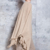 P18B078CH cashmere knit scarf solid color shawl with tassel for lady