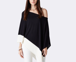 15PKCSP31 2016 knit cashmere poncho sweater for women