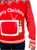 P18A84HX Men's Retro TV set ipad tablet ugly christmas sweater in red