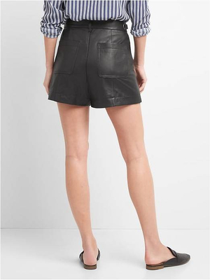 P18E018BW Hot sale fashion classic sexy custom leather shorts for women