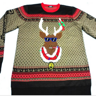 ugly christmas sweater reindeer custom wholesale christmas sweater for adults