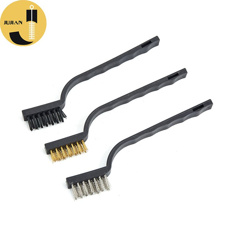 G08 Stainless Steel Single End Brush with Plastic Handle