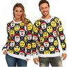 PK1811HX Men's Ugly Christmas sweater ladies santa With Emoji
