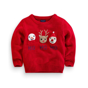 Wholesale kids ugly christmas sweater holiday winter jumpers
