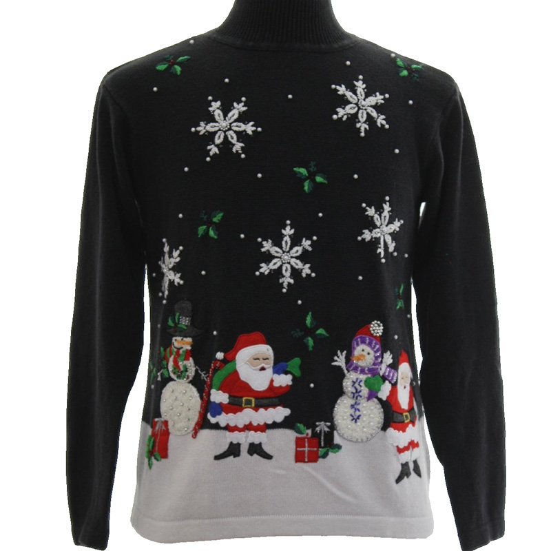 PK18A47YF applique christmas sweater with deer