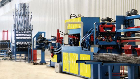 Steel bar truss welding production line