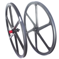 6 SPOKE 29ER MTB CARBON WHEELS SIX CARBON MTB WHEELSET 30MM WIDTH TUBELESS