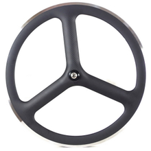 3 spoke full carbon wheels with alloy brake track fixed gear carbon wheelset