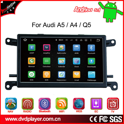 Android 5.1 for Audi A4 / Q5 / A5 car videos gps Navigatior wifi connection
