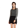 Fashion Striped Women Cashmere Pullover