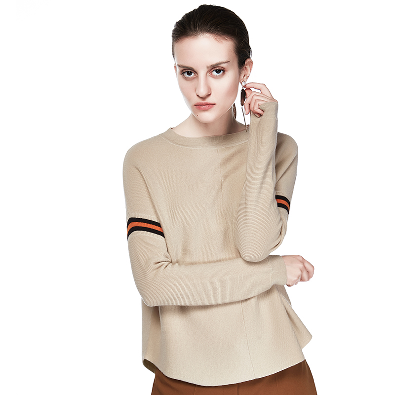 P18B03TR cashmere knitted lady pullover sweater