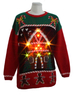 14STC8053 knit ugly christmas sweater with light