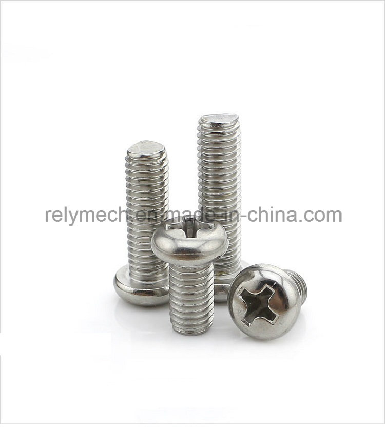 Fastener Stainless Steel Phillip Pan Head Screw/Cross Machine Screw M4-M6