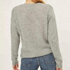 Women's autumn winter cashmere knitted embroidery basic round neck pullover sweater