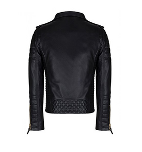 OEM High Quality Women's Long Sleeve Zipper Closure Moto Biker Leather Jacket